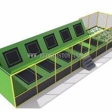 Экспортируется в Канаду парк батуты с пеной ямы CE сертифицированные HZ-047