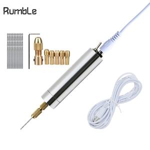 Image 1 - マイクロ電気 DC 5 ボルト USB ハンドドリル木材プラスチック穴掘削ツール木工彫刻 DIY モデルのための 0.5  3.0 ミリメートルドリルビット