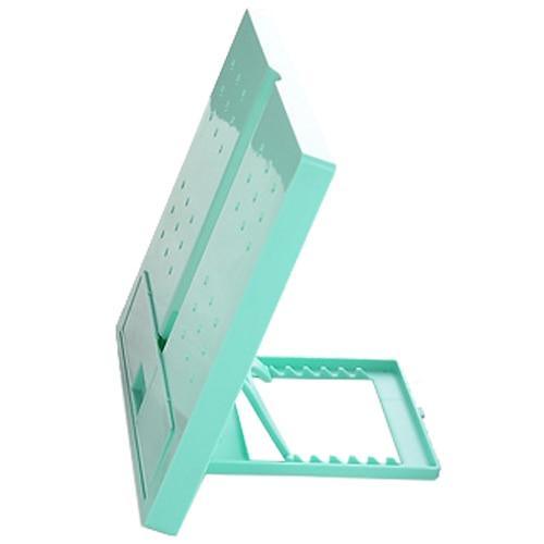 JIELISI 754 square folding type reading computer typewriter document file rack green