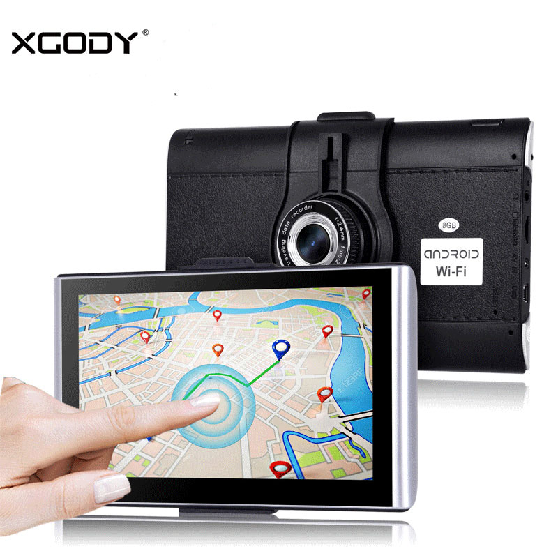 Xgody Car Camera Dvr Gps 7''Android Video Recorder Dash Cam Gps Navigation Bluetooth Av-In 512m+8gb Free Map 2018 Eu Map WIFI