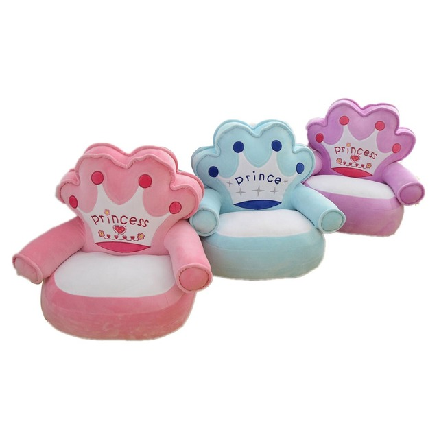 Superieur Only Cover No Filling Baby Bean Bag Cartoon Crown Seat Sofa Baby Chair  Toddler Nest Puff