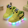 Children Shoes With Light 2016 New LED Pu Children Girls Boys Shoes For Little Monsters Kids Shoes Light
