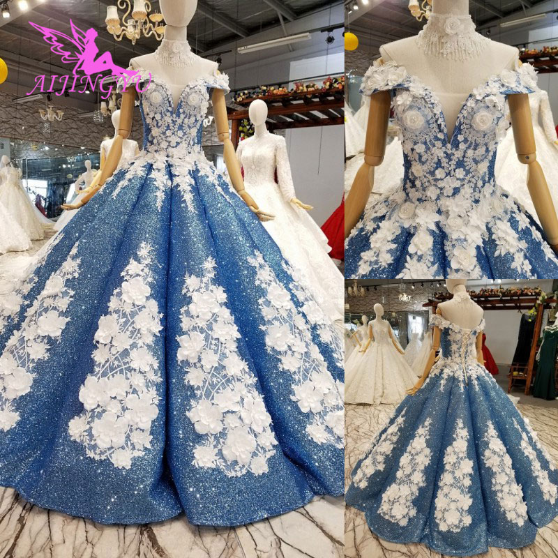 AIJINGYU Wedding Dresses Czech Republic Winter Gowns Guest For Woman Married Gown Plus Size Wedding Dress With Royal Train