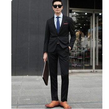 2017 Handsome Men Black Groom Suit Multi-color Fashion Suits The Wedding Party Dress 2 Pieces Prom Tuxedos (Jacket+Pants+Tie)