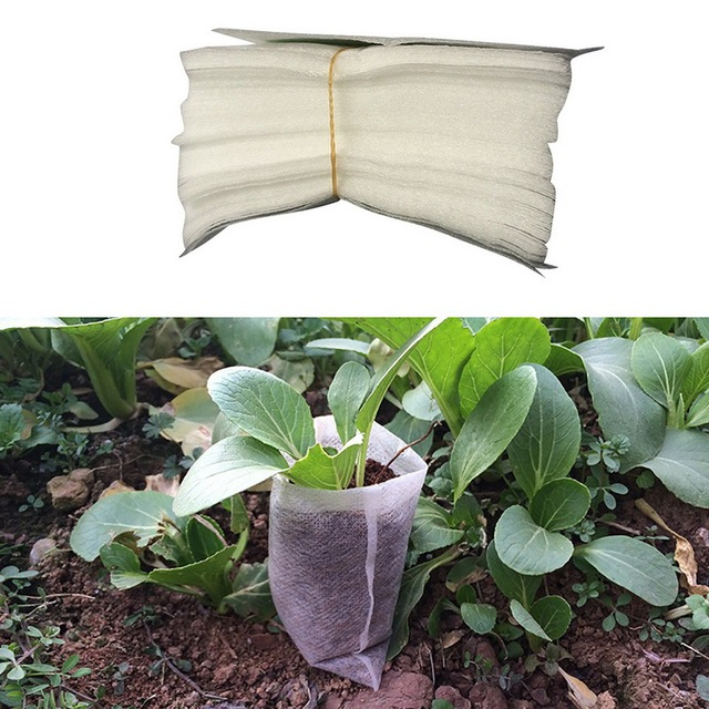 8*10cm  100pcs-Pack Garden Supplies Environmental Protection Nursery Pots Seedling-Raising Bags CY1
