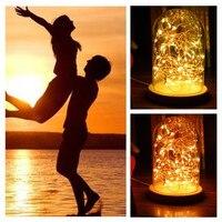 Lamp String Solar 5m 50LED Christmas LED Fire Tree Silver Flower USB Romantic Glass Decor Dropshipping
