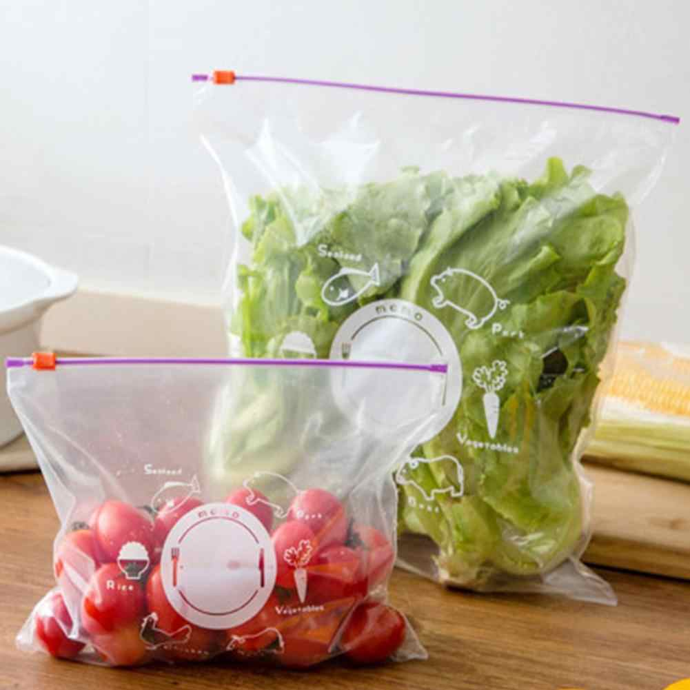 10Pcs Reusable Kitchen Storage Bag Organizer Plastic Holder Sundries Organizer Storage Bag Food Sealed Kitchen Storage Tools
