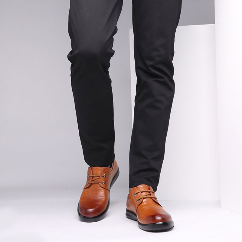 Brun Black Noir Cuir Robe Formelle Oxford D'affaires Doux Respirant brown En Véritable Mâle Hommes Casual up Dentelle Automne Chaussures InHFaTT