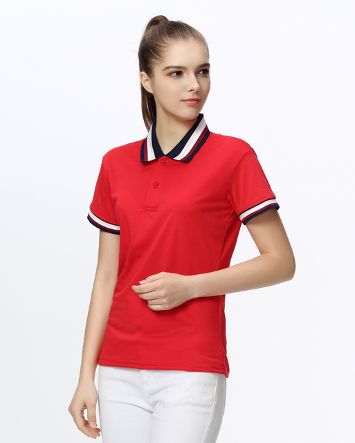 Brand Clothing 2018 Plus Size Summer Women Polo Shirt Custom Logo Printed  Female Short Sleeve Casual Shirts Lady Polo Homme 138aadcfd6