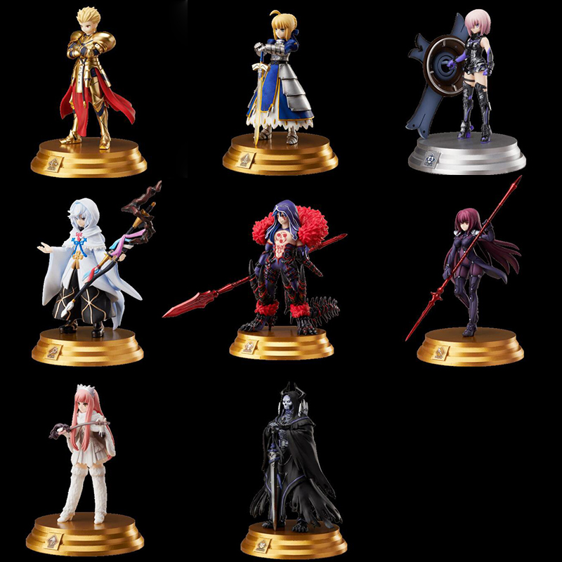 Destin/Grand ordre Scathach Arturia Pendragon Anime figurine jouets 6 cm 8 pièces/ensemble nendoroid collection jouet cadeau F7401
