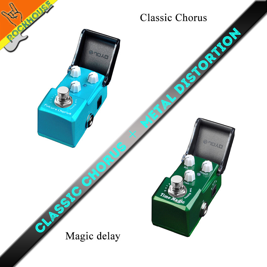 все цены на  Pedals Package sales IRONMAN Chorus+Magic delay guitar effects pedal vintage metal distortion effect stompbox free shipping  онлайн