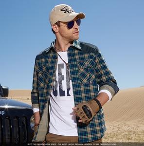Image 4 - Camisa Hombre Plaid militar 100% algodón Manga larga 2019 Franela masculina Otoño Botones Camisas casuales Marca de lujo Vestido a cuadros de alta calidad Streetwear Camisas para hombre Camisa casual con botones