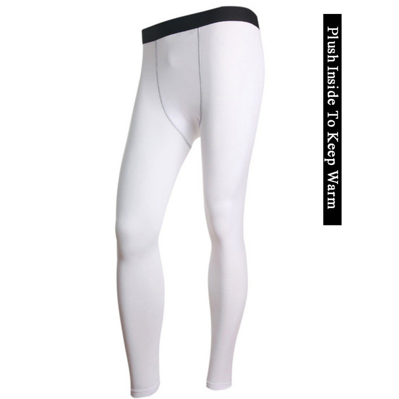 Men's Soft Plush Thick Warm Long Johns Tight Bodice Thermal Pants Sleepwear