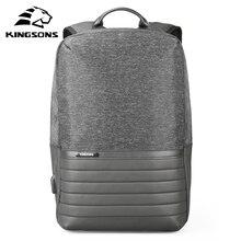 Kingson 15 بوصة محمول على ظهره USB شحن مكافحة سرقة حقائب الظهر الرجال حقيبة السفر مقاوم للماء حقيبة مدرسية الذكور Mochila