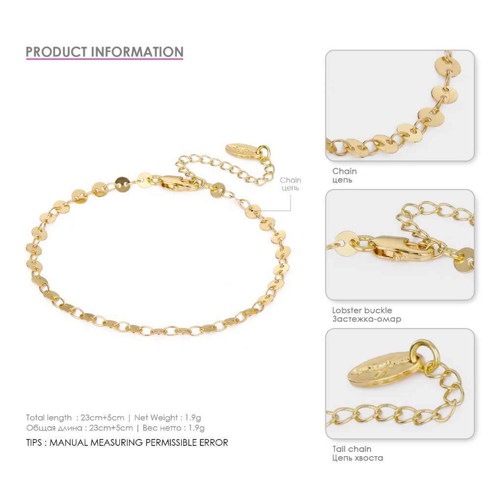 EManco классический Для женщин ножной браслет ног украшения золото Цвет цепи Простой Марка Дизайн Jewelry браслет для девочки подарок