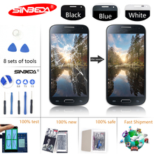 Sinbeda AMOLED Mobile Phone LCD Display For Samsung Galaxy S4 Mini i9190 i9192 i9195 LCD+Touch Screen Digitizer Assembly+Frame