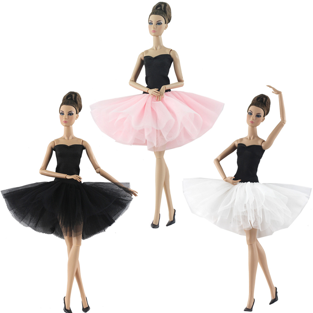 NK 2019 Newest Doll Dress Handmade Outfit Ballet Dacing Dress Fashion Clothes For Barbie Doll Accessories Child Girls'Gift JJ