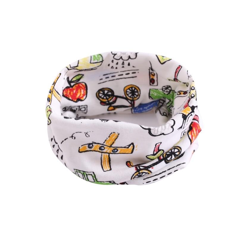 Детский хлопковый шейный шарф с милым принтом; детский теплый шарф; Детские воротники; осенне-зимний шарф-кольцо для мальчиков и девочек; аксессуары для детской одежды - Цвет: wb018