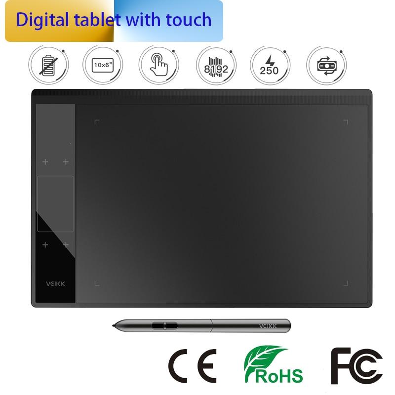 Tablette graphique 8192 niveau tablette de dessin numérique Ultra-mince Art électronique planche à dessin 10x6 pouces zone de dessin Active escritura