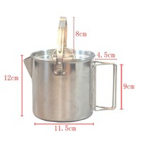 1 2L Outdoor Portable Stainless Steel Kettle