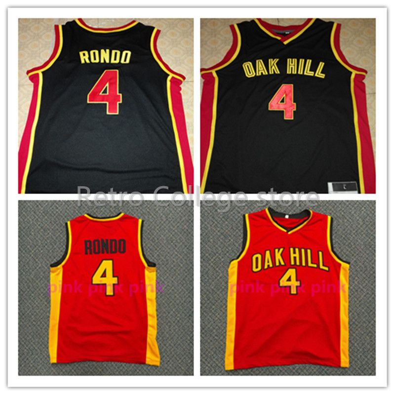 0bc7eef43460  22 CARMELO ANTHONY JERSEY  4 Rajon Rondo Oak Hill High School Throwback Basketball  Jerseys