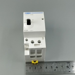 Image 5 - TOCT1 2P 63A 220V/230V 50/60HZ Din rail Household ac Modular contactor with Manual Control Switch 2NO or 1NO 1NC or 2NC