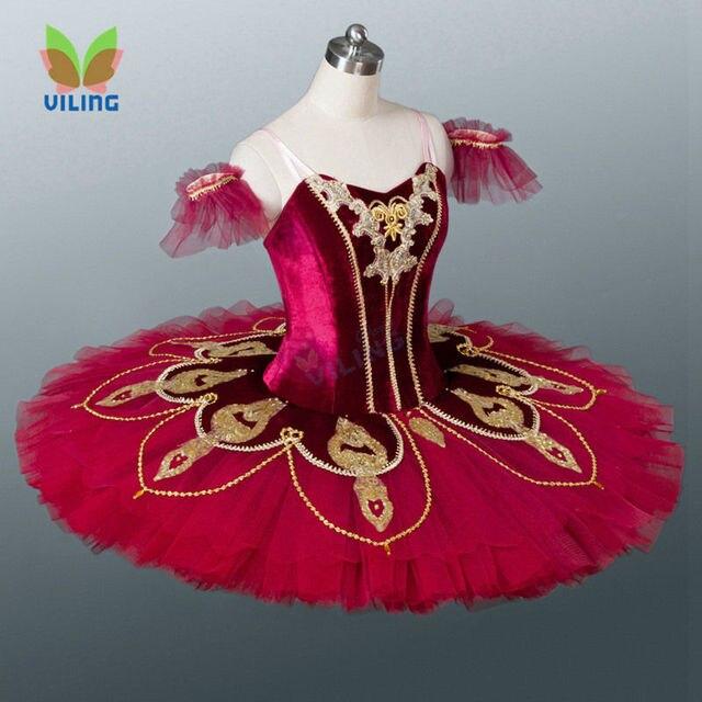 aa0e439868d Red Classical Ballet dress Women Pancake professional ballet tutu  Nutcracker Ballerina costumes for girls