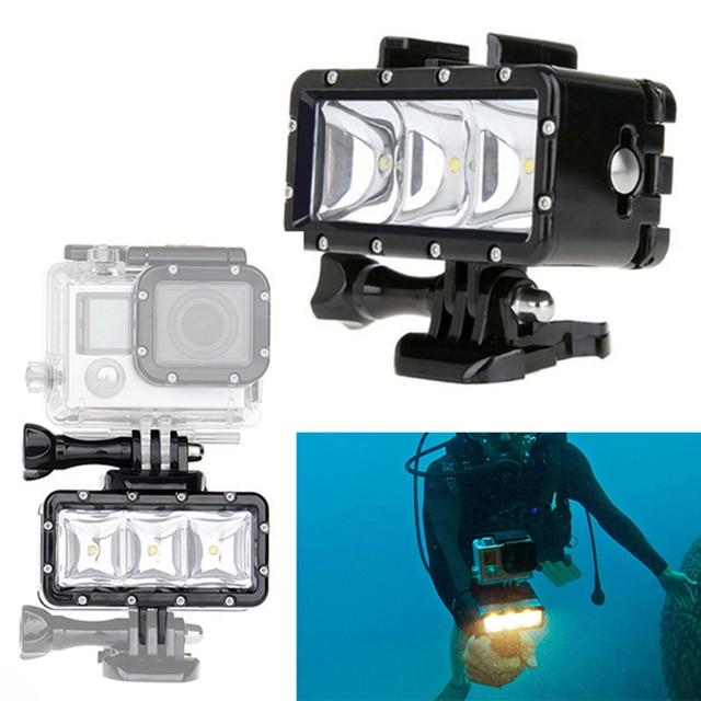 Accessories GoPro Underwater Light Diving Waterproof LED Video Llight Spot Lamp For GoPro Hero 5 4 3+ 3  SJ4000 Xiaomi Yi 2 4k
