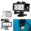 Acessórios GoPro Luz Subaquática de Mergulho À Prova D' Água de Vídeo LED Llight Spot Lamp para sj4000 gopro hero 5 4 3 + 3 xiaomi yi 2 4 k