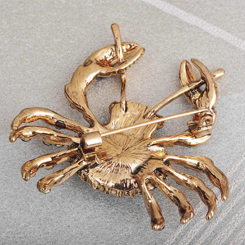 Blucome แฟชั่นขนาดใหญ่รูปร่างเข็มกลัดทองสีเครื่องประดับคริสตัล Pins ผู้หญิงผู้ชายเด็กเสื้อผ้าอุปกรณ์เสริมผ้าพันคอหัวเข็มขัด