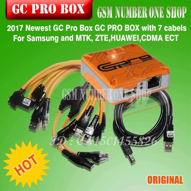 Оригинальный новейший Verison GC Pro коробка GC PRO коробка GcPro коробка с 7 кабелями для samsung ZTE Huawei MTK CDMA + + Бесплатная доставка