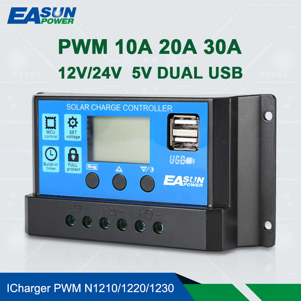 Detail Feedback Questions About Solar Panel Charge Controller Led Pwm View Easun Power 12v 24v 30a 20a 10a Regulator Battery Charger