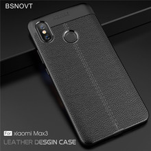 For Xiaomi Mi Max 3 Case Soft PU Leather Shockproof Anti-knock Bumper Cover Xaiomi BSNOVT