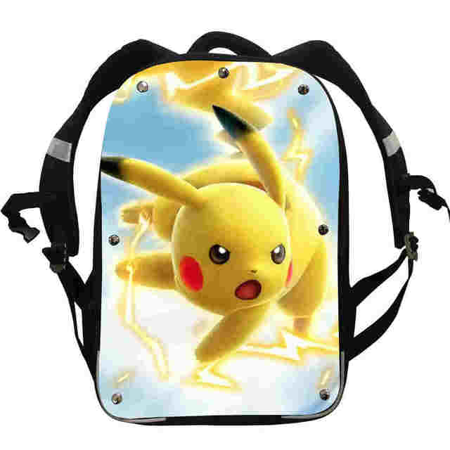 eabf82a9f0a2 Pokemon Pikachu Anime Backpacks Team Valor Mystic Instinct Boys Girls  Teenager School Bags Mochila Box Lunch Pencil Case-in Backpacks from  Luggage   Bags on ...