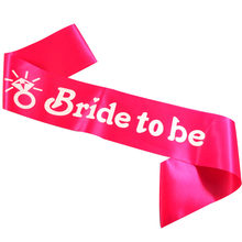 Bride to be Ribbon wedding decoration Hen party bands Bridesmaid maid of honor event sash wedding ribbons party supplies(China)