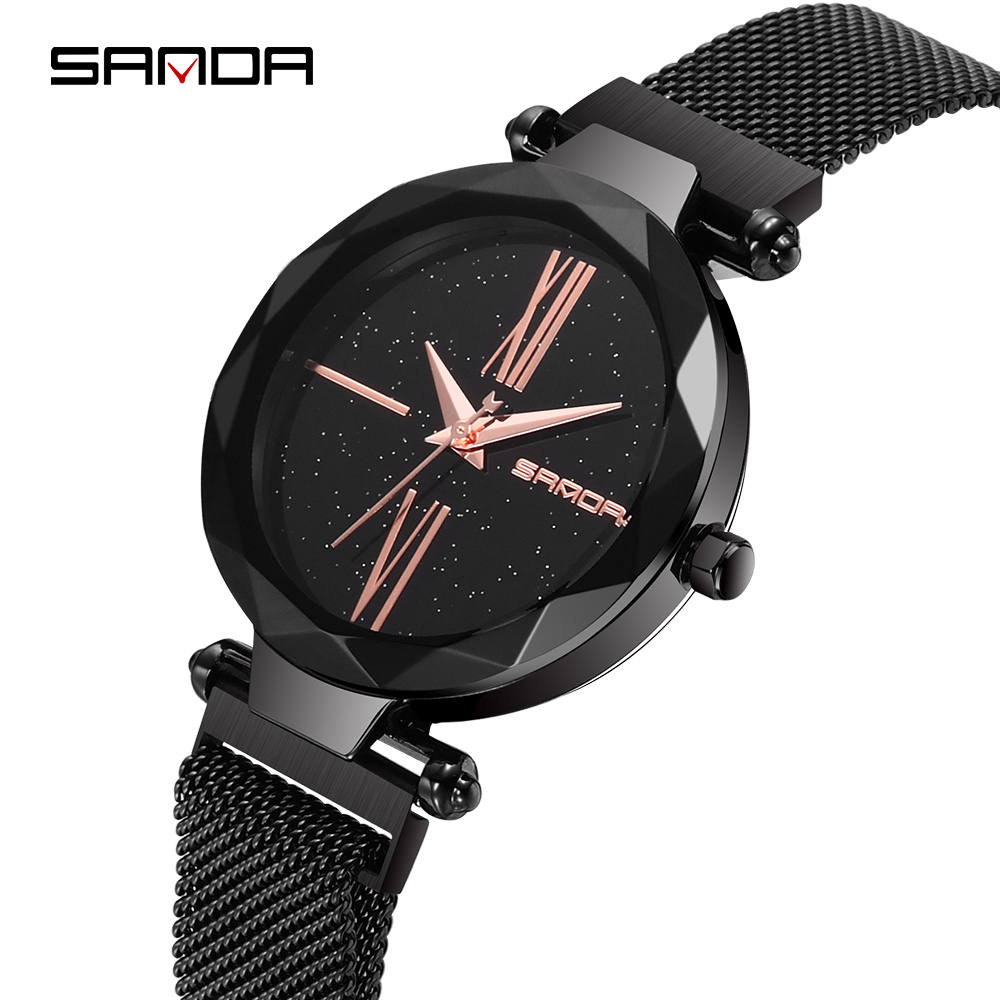 SANDA Brand Woman Watch Luxury Women Watches Ladies Gold Steel Strap Quartz Watches Casual Waterproof Lady Wrist watch все цены