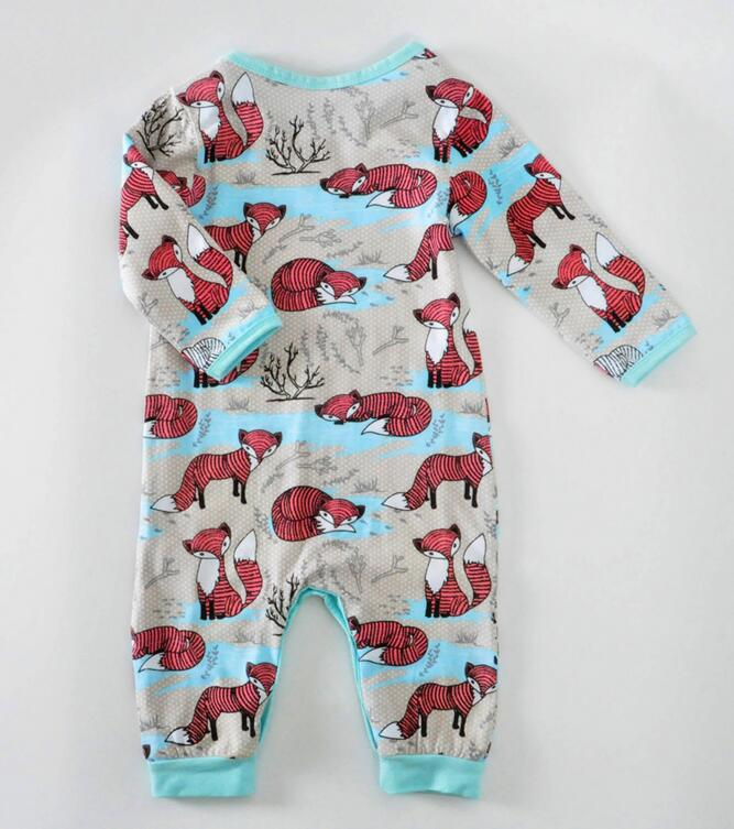 9117343ae Wholesale 4sets/lot girls Jumpsuit kids clothes children clothing Fox long  sleeve boys Romper with cap 1201 sylvia sis-in Rompers from Mother & Kids  on ...