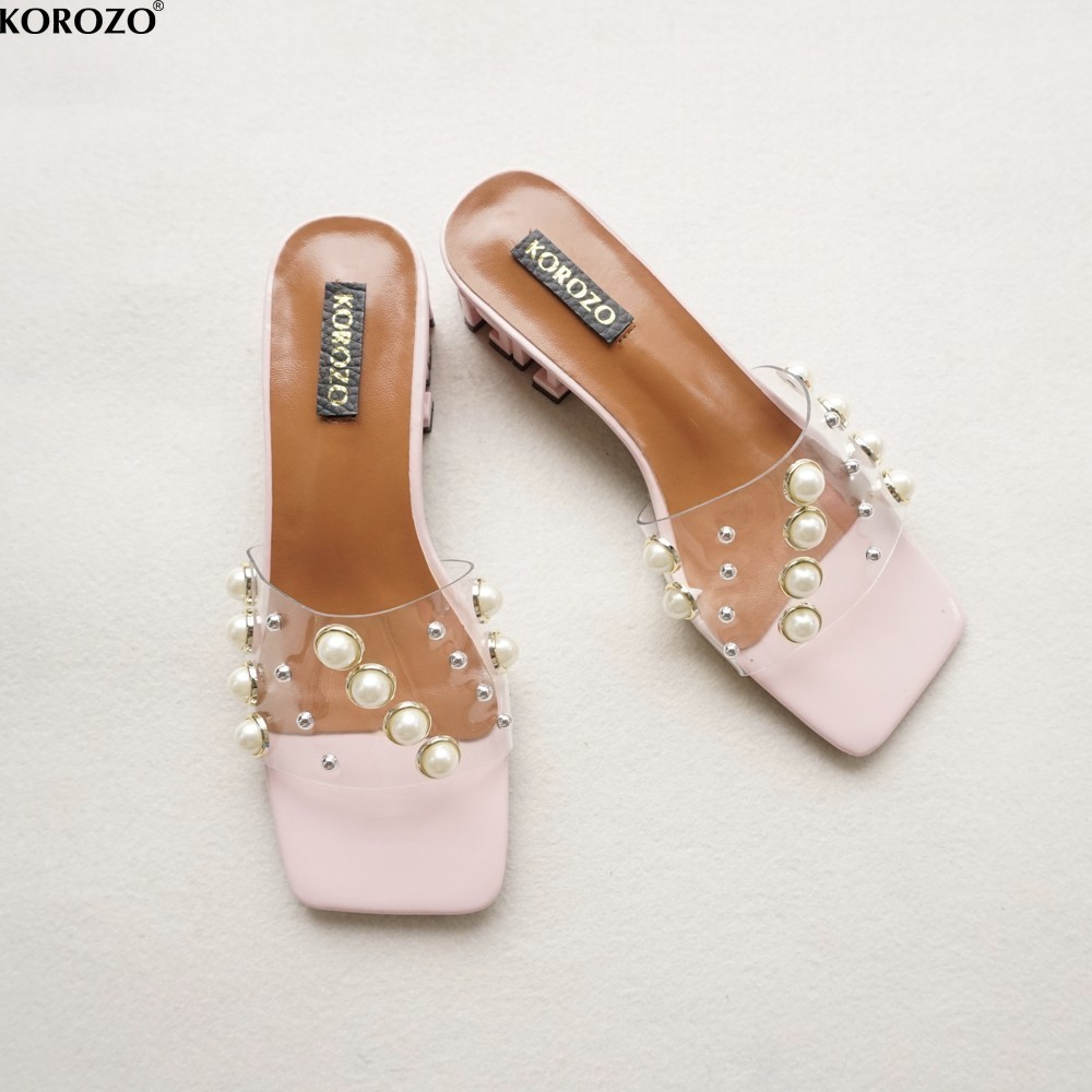 7e275fa0563e6 2017 Fashion Rivet Women Boho Transparent Slides Ladies Slippers ...