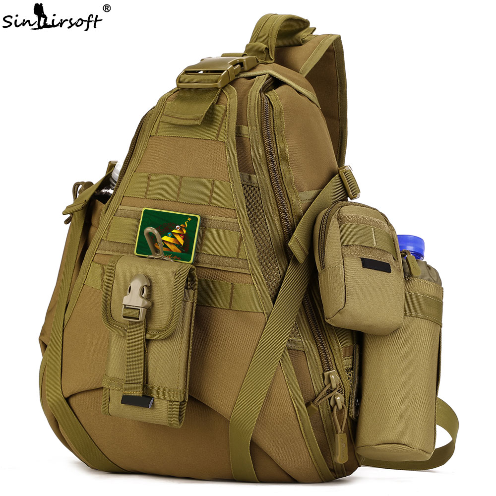 2018 New SINAIRSOFT 14 inches Laptop backpacks Single Sling Molle Waterproof Shoulder Rucksack Sport Outdoor Bags fishing LY0080
