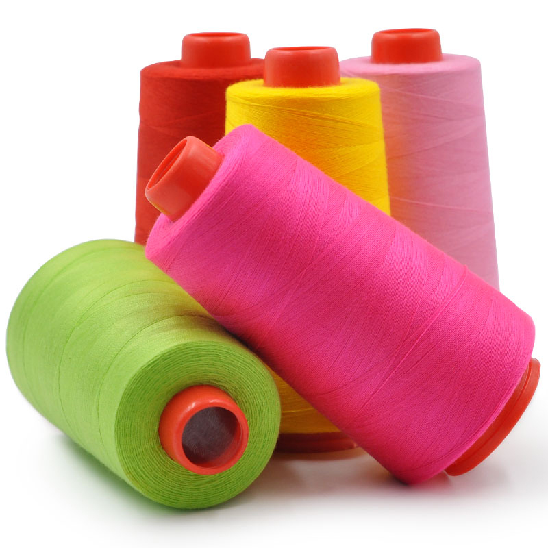 1500 Yards Colorful Overlocking Polyester Strong Sewing Machine Thread