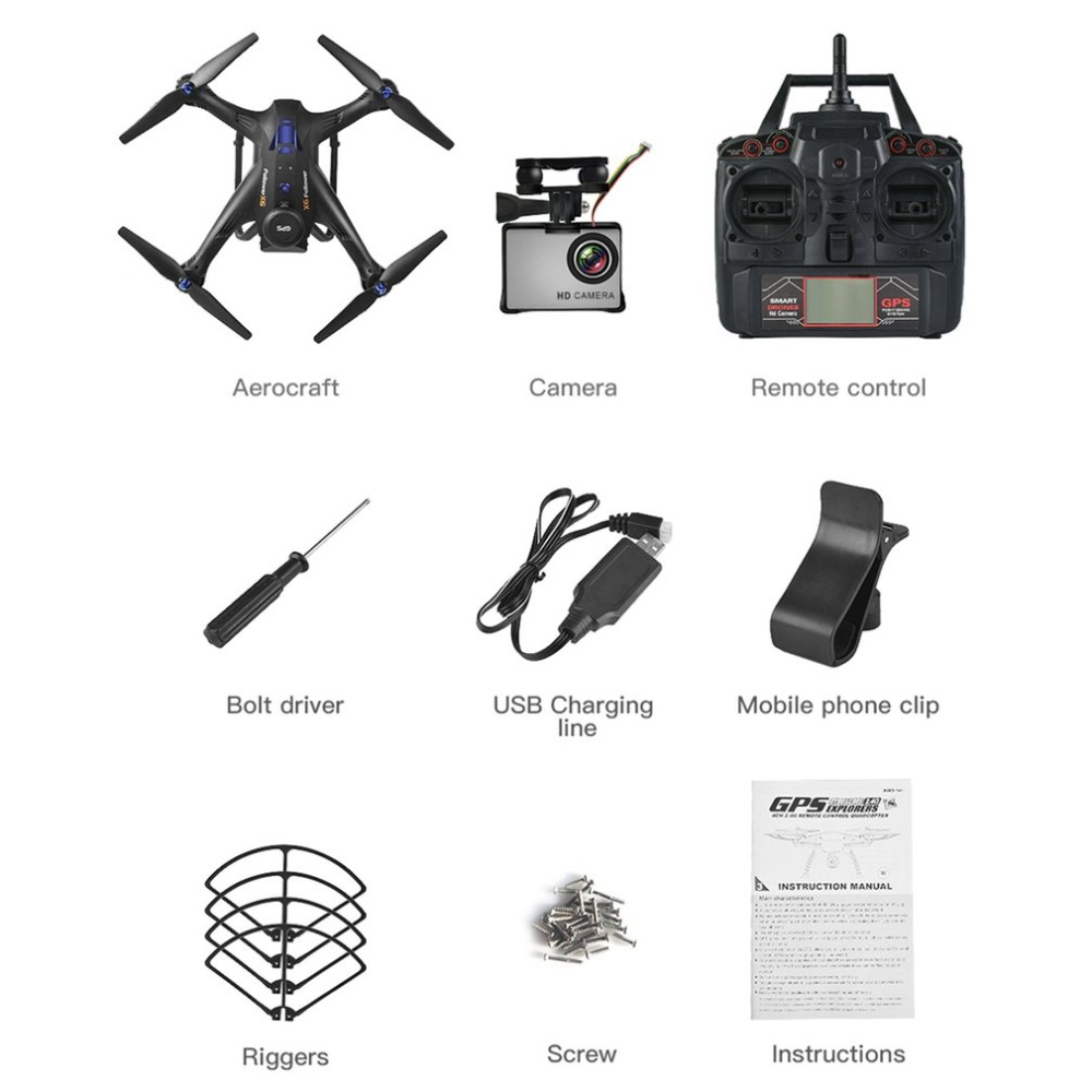 X183S RC Drone with 1080P 5G Camera Headless Mode Altitude Hold One Key Return M