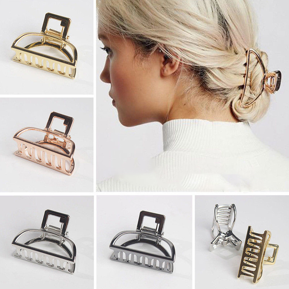 Aspiring 2019 Fashion Alloy Lady Large Hair Claw Clamps Small Hair Clip For Girls Imitation Pearls Hairpins Accesorios Para El Cabello