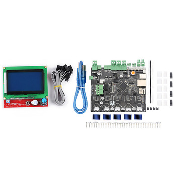 Smoothieboard 5X V1.1 Motherboard with 12864 LCD Display Kit for CNC 3D Printer QJY99