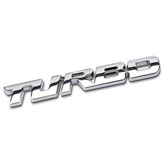 Us 203 46 Offmetall Turbo Buchstaben Auto Silber Motor Hinten Stamm Emblem Abzeichen Aufkleber Aufkleber Für Audi Bmw Skoda Auto Styling Zubehör