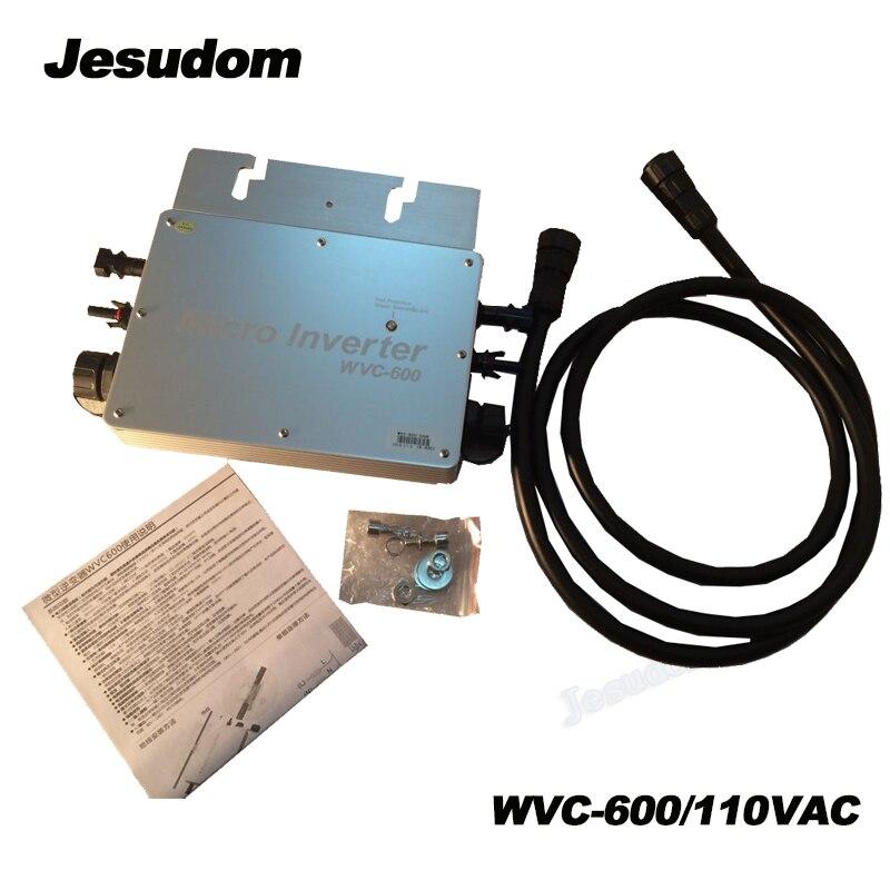 MPPT Solar Inverter 600W Micro Inverter Input DC22V 50V to AC110V/220V Wireless WVC Inverter with Waterproof IP65-in Inverters & Converters from Home Improvement    1