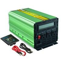 EDECOA pure sine wave power inverter home solar power system 1000w 2000w peak 12V 110V 120V converter free shipping US standard