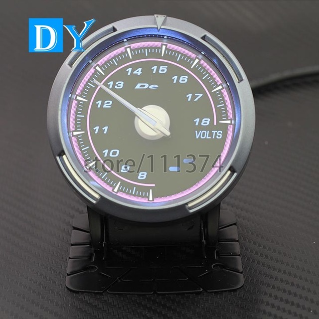 Alta Qualidade 2.5 POLEGADA 60 MM DY Medidor de Bateria Do Volt voltímetro carro Medidor de Luz cor de Rosa corrida HQ