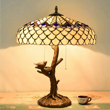 hot sale european style tiffany white glass table lamp restaurant study decorative table lamp peacock lamps