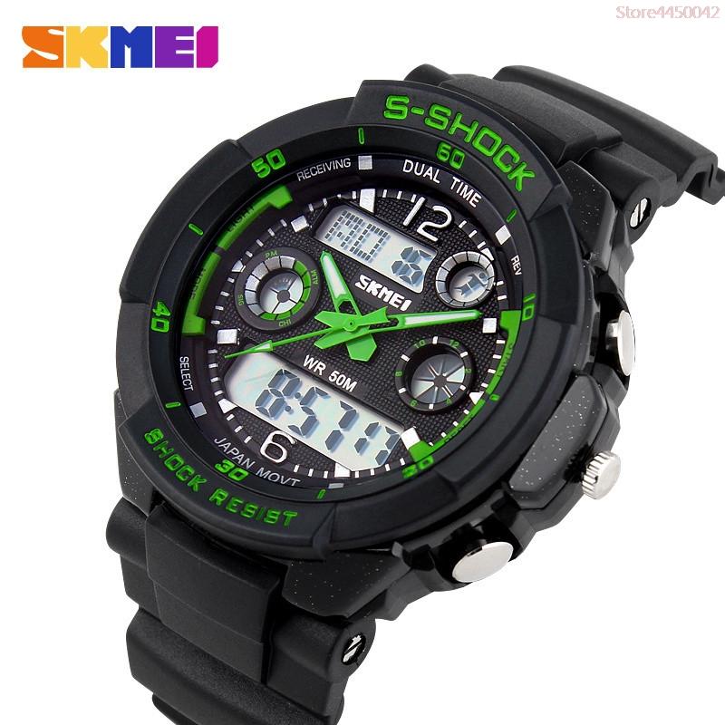 35f41890eb4 S CHOQUE 2017 Luxo Marca Homens Relógios Desportivos Militar Do Exército Digital  LED Relógio de Quartzo Relógio de Pulso Relogio Reloj SKMEI Relógio Relojes