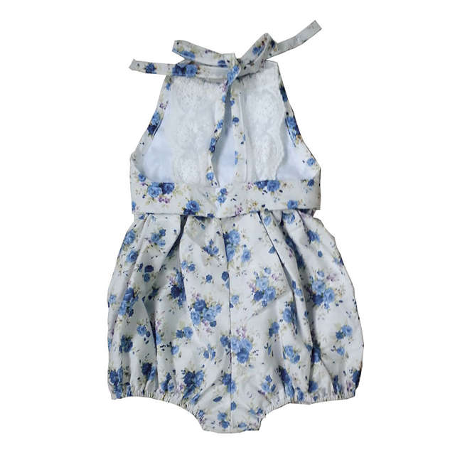 a6efde463093 Online Shop New Rose Floral Printed Cotton Baby Rompers Vintage Baby Girl  Romper Lace Floral Overalls for Children Baby Clothes 1-3years